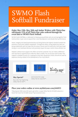 SWMO Flash Softball Fundraiser