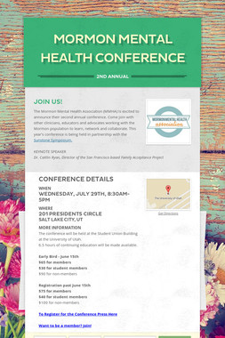 Mormon Mental Health Conference
