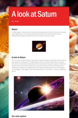 A look at Saturn