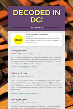 Decoded in DC!