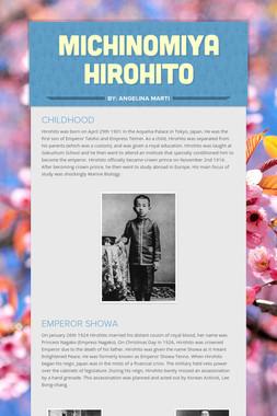 MICHINOMIYA HIROHITO