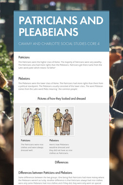 PATRICIANS AND PLEABEIANS