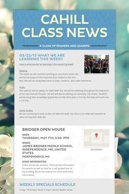Cahill Class News