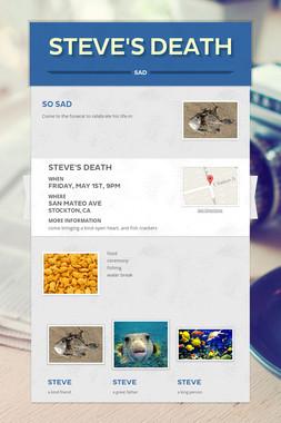 steve's death