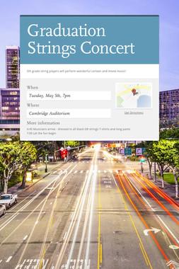 Graduation Strings Concert