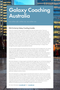 Galaxy Coaching Australia