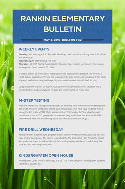 Rankin Elementary Bulletin