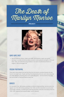 The Death of Marilyn Monroe