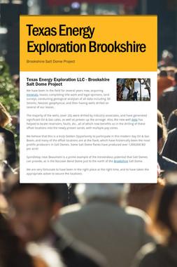 Texas Energy Exploration Brookshire