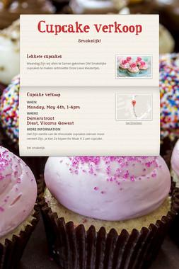 Cupcake verkoop