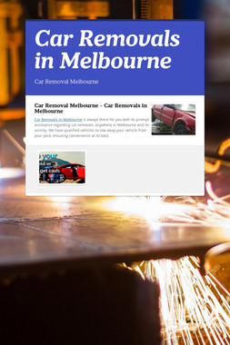 Car Removals in Melbourne