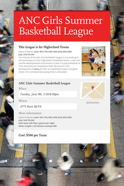 ANC Girls Summer Basketball League
