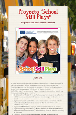 "Proyecto ""School Still Plays"""