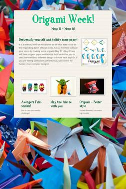 Origami Week!