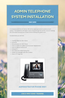 Admin Telephone System Installation