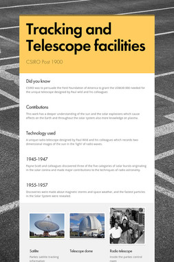 Tracking and Telescope facilities