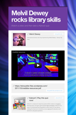 Melvil Dewey rocks library skills
