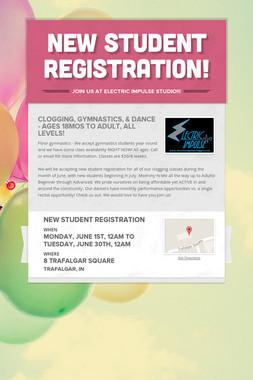 New Student Registration!