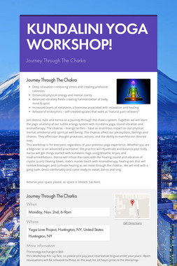 KUNDALINI YOGA WORKSHOP!