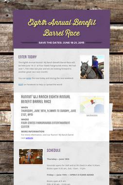 Eighth Annual Benefit Barrel Race
