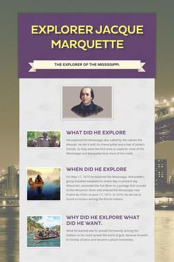 Explorer Jacque Marquette