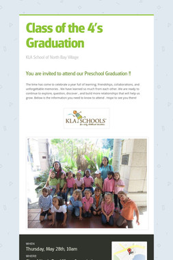 Class of the 4's Graduation