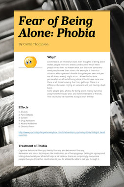 Fear of Being Alone: Phobia