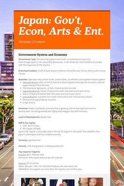 Japan: Gov't, Econ, Arts & Ent.