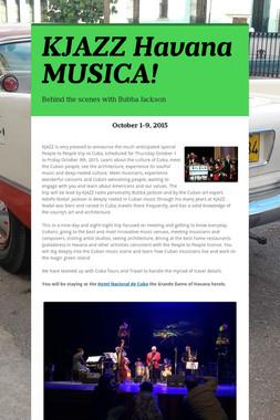KJAZZ Havana MUSICA!