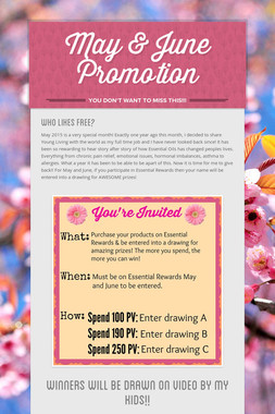 May & June Promotion