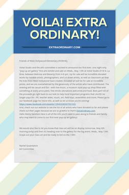 Voila! Extra Ordinary!