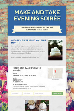 Make and Take Evening Soirée