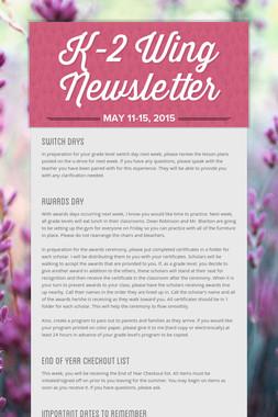 K-2 Wing Newsletter