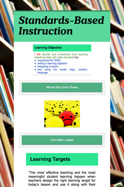 Standards-Based Instruction