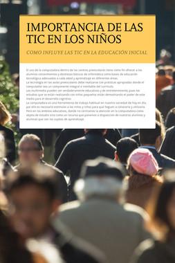 IMPORTANCIA DE LAS TIC EN LOS NIÑOS