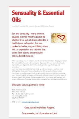 Sensuality & Essential Oils