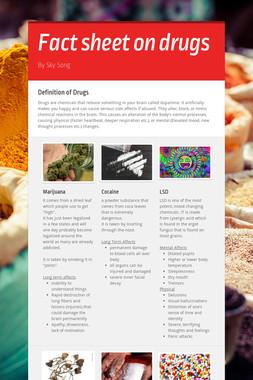 Fact sheet on drugs