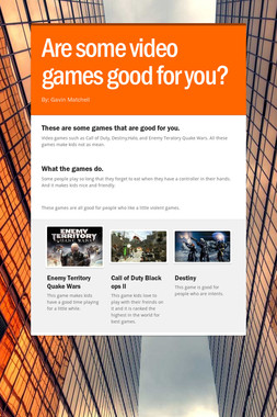 Are some video games good for you?