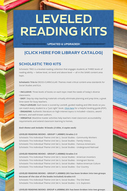 Leveled Reading Kits