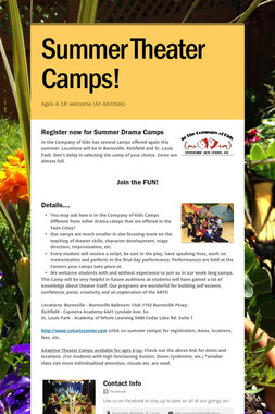 Summer Theater Camps!