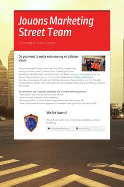 Jouons Marketing  Street Team