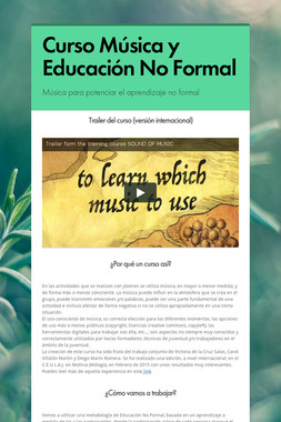 Curso Música y Educación No Formal
