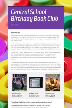 Central School Birthday Book Club