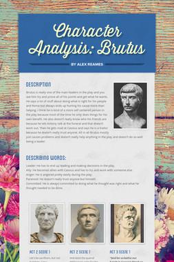 Character Analysis: Brutus