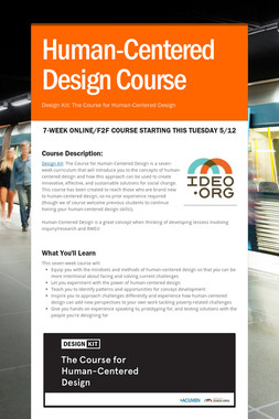 Human-Centered Design Course