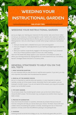 Weeding Your Instructional Garden