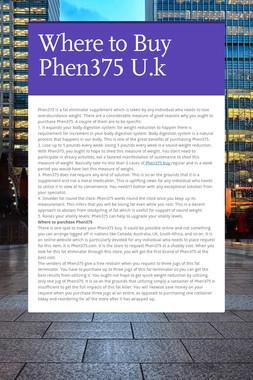 Where to Buy Phen375 U.k