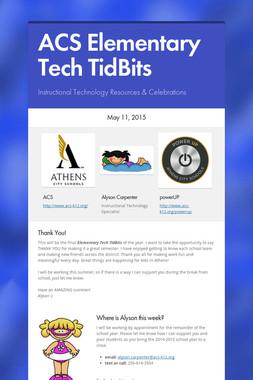 ACS Elementary Tech TidBits