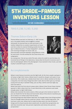 5th Grade-Famous Inventors Lesson