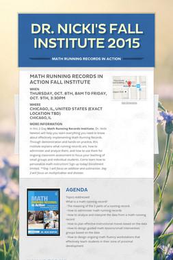 Dr. Nicki's Fall Institute 2015